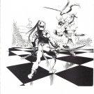 "vintage Frank Frazetta 11"" x 9"" Book Plate Print -U-dor attacks Gahan- Chessmen of Mars"