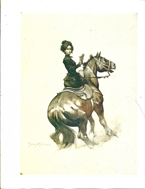 "vintage Frank Frazetta 11"" x 9"" Book Plate Print -Madame Derringer"
