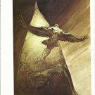 "vintage Frank Frazetta 11"" x 9"" Book Plate Print -Birdman"