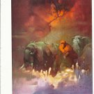 "vintage Frank Frazetta 11"" x 9"" Book Plate Print -Downward the the Earth"