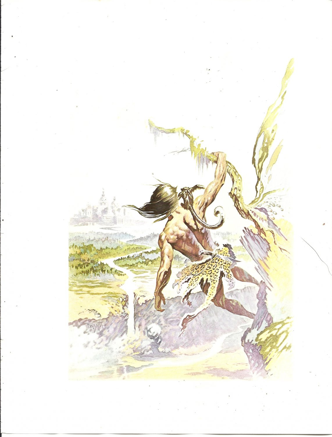 "vintage Frank Frazetta 11"" x 9"" Book Plate Print -The Lost Empire"