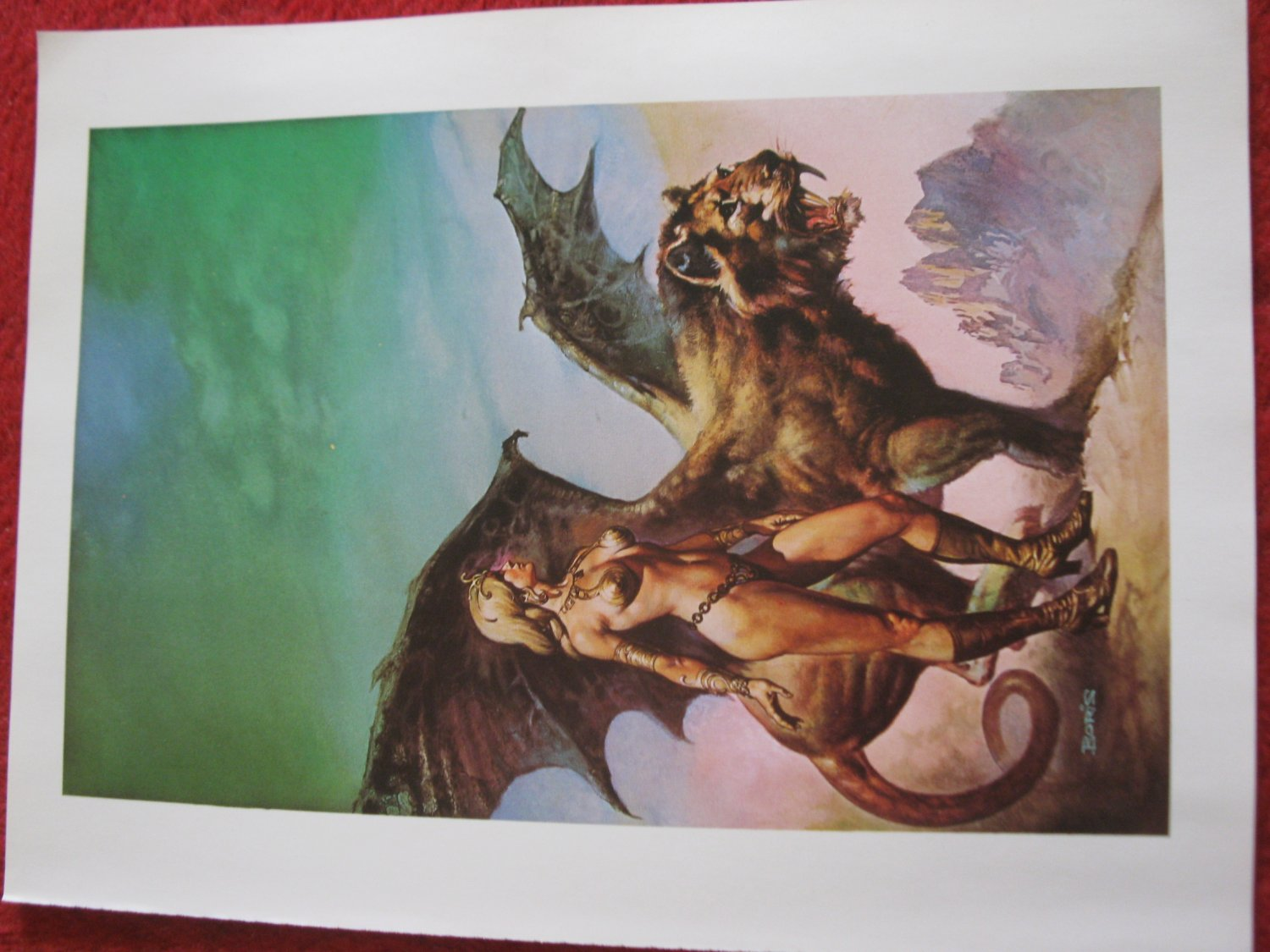 "vintage Boris Vallejo: The High Couch of Silistra - 11.5"" x 8.5"" Book Plate Print"