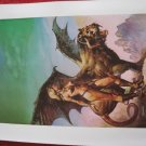 """vintage Boris Vallejo: The High Couch of Silistra - 11.5"""" x 8.5"""" Book Plate Print"""