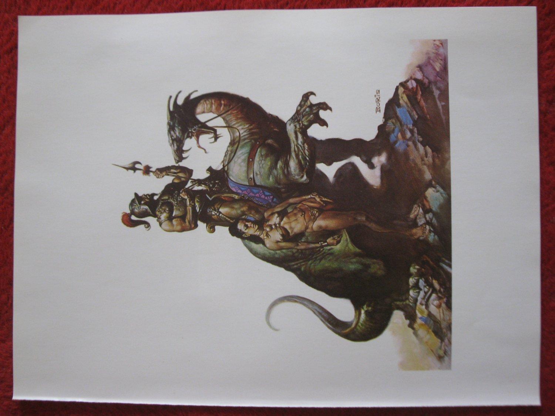 "vintage Boris Vallejo: Nomads of Gor- 11.5"" x 8.5"" Book Plate Print"