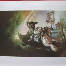 "vintage Boris Vallejo: The Dragon and The George - 11.5"" x 8.5"" Book Plate Print"