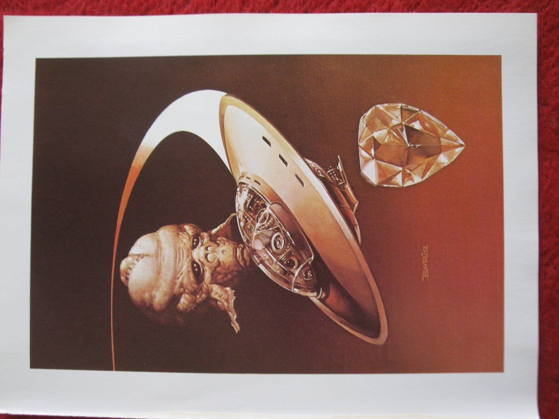 "vintage Boris Vallejo: Gateways in the Sand - 11.5"" x 8.5"" Book Plate Print"