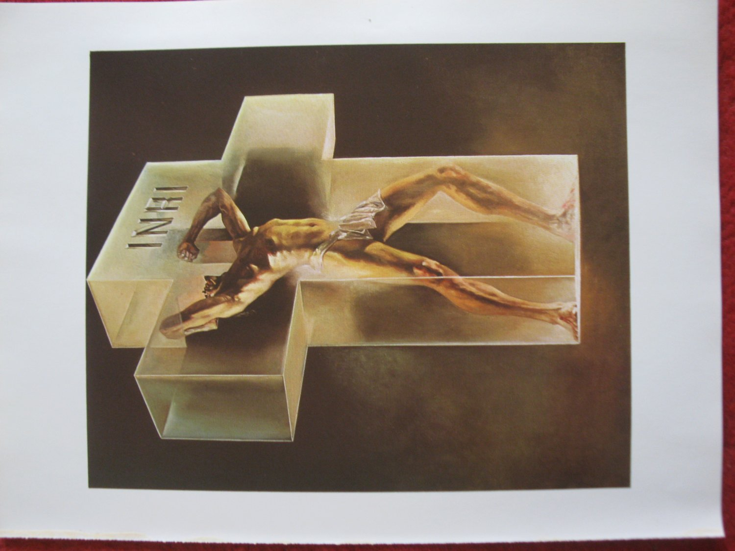 "vintage Boris Vallejo: The Protest - 11.5"" x 8.5"" Book Plate Print"