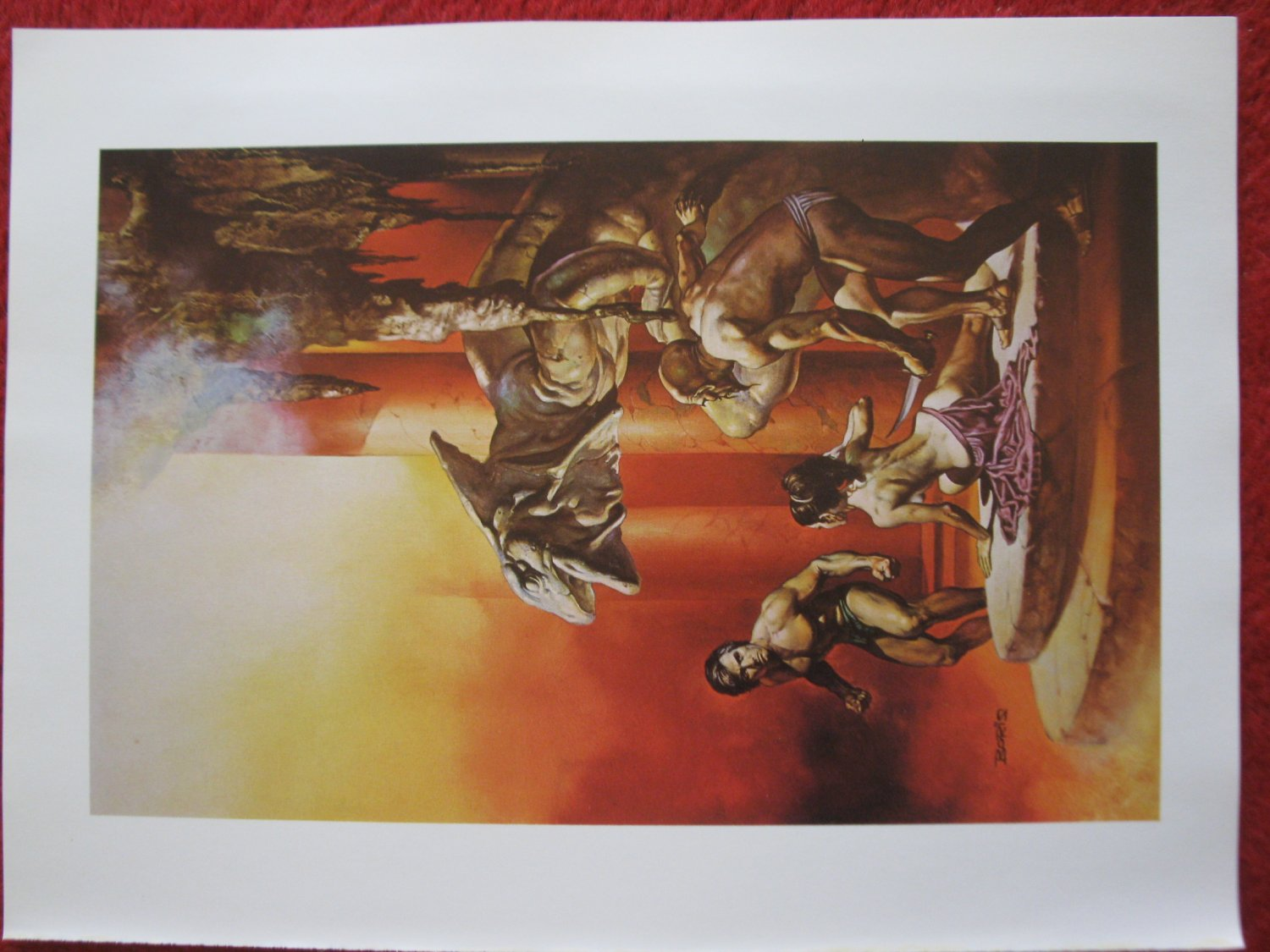 "vintage Boris Vallejo: The Best of Leigh Brackett - 11.5"" x 8.5"" Book Plate Print"
