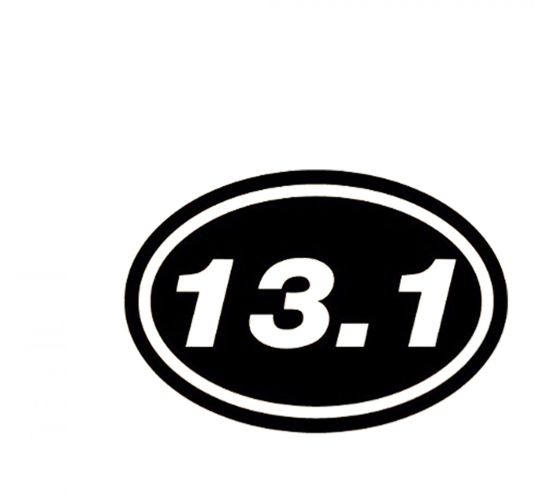 13 1 marathon euro oval 6 black vinyl decal sticker for 13 1 window sticker