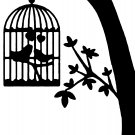 "birds in love 6"" Black Vinyl Decal Sticker Laptop Wall Car Window iPad etc."