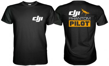 Dji PHANTOM PILOT T-Shirt 2 SIDE Size S, M, L, XL, 2XL, 3XL