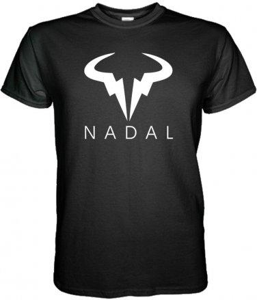 NEW RAFAEL NADAL BLACK WHITE T-SHIRT TENNIS WIMBLEDON  S - 3XL