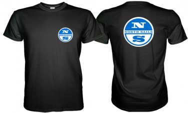 North Sails Logo Black/White T-shirt Size S - 3 XL