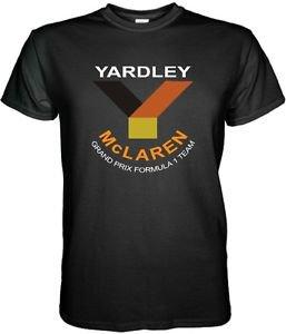 MCLAREN YARDLEY F1 TEAM FORMULA 1 BLACK / WHITE MEN TSHIRT Sz. S - 3XL