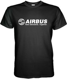 AIRBUS T-SHIRT Aerospace Aviation Short Sleeve Graphic Tee S - 3XL