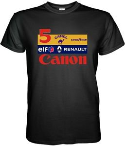 WILLIAMS RENAULT F1 CANON RACING NIGEL MANSELL BLACK/WHITE MEN TSHIRT S - 3XL