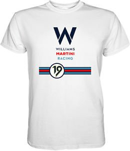Williams Martini Racing Team Formula 1 Classic F1 T-Shirt S M L XL 2XL 3XL