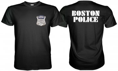 BOSTON STATE POLICE BLACK TSHIRT Sz. S, M, L, XL, 2XL, 3XL