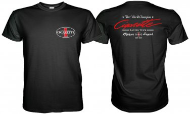 CIGARETTE RACING TEAM WHITE TSHIRT WORLD CHAMPION Sz. S-3XL