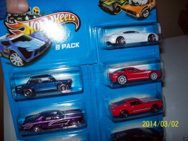 Hot Wheels 9 Pack New 2013