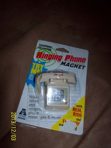 Telephone Collection Ringing Miniature Phone Magnet that really rings