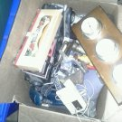 Box of vintage tools and items