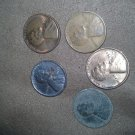 5 Wheat Pennies 1926-1930 and 1952 D Wheat Penny