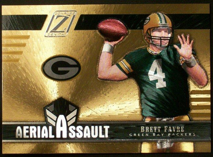 2005 Zenith Aeriel Assault GOLD, # AA3 Brett Favre Ser.3 057/100
