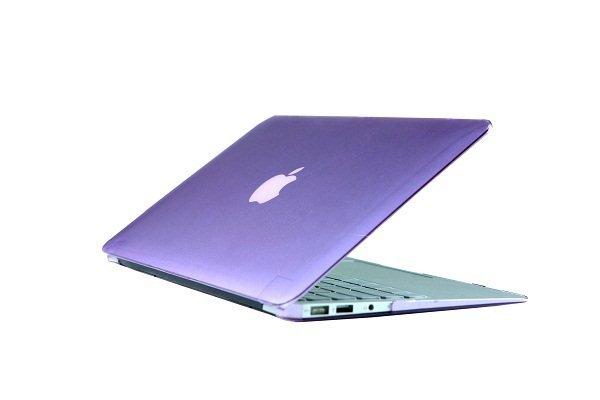 "Ultra Slim Crystal Clear Hard Case for MacBook Air 11.6"" (Purple) & Free Keyboard Cover(Random)-282G"
