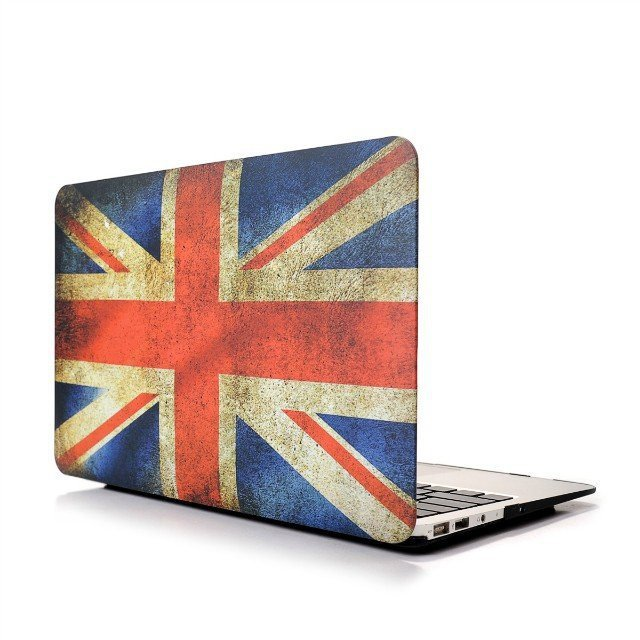 """Ultra Slim UK Flag Hard Case for MacBook Air 11.6"""" & Free Keyboard Cover(Random)-283E"""