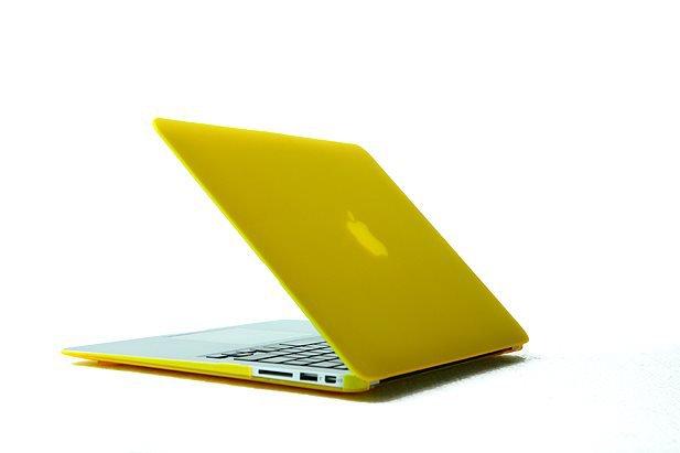 "Ultra Slim Anti Glare Hard Case for MacBook Air 11.6"" (Yellow) & Free Keyboard Cover(Random)-284G"