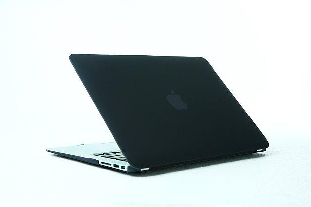 """Ultra Slim Anti Glare Hard Case for MacBook Air 11.6"""" (Black) & Free Keyboard Cover(Random)-284I"""