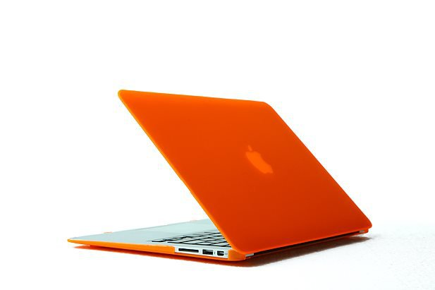 "Ultra Slim Anti Glare Hard Case for MacBook Air 11.6"" (Orange) & Free Keyboard Cover(Random)-284J"