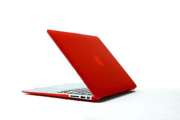 "Ultra Slim Anti Glare Hard Case for MacBook Air 11.6"" (Red) & Free Keyboard Cover(Random)-284K"