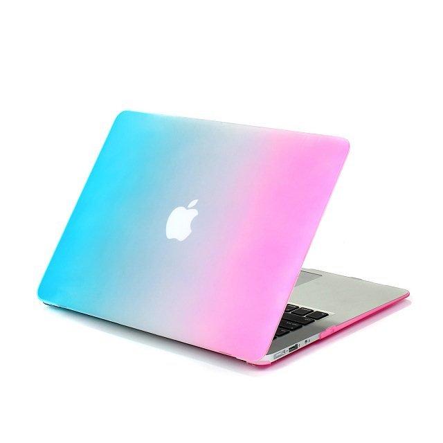 "Ultra Slim Rainbow Rubberized Hard Case Apple MacBook Air 13.3"" & Free Keyboard Cover(Random)285A"