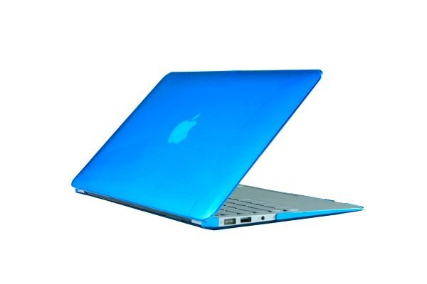 "Ultra Slim Crystal Clear Hard Case for MacBook Air 13.3"" (LightBlue) & Free Keyboard Cover-286A"