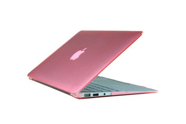 """Ultra Slim Crystal Clear Hard Case for MacBook Air 13.3"""" (Pink) & Free Keyboard Cover-286C"""