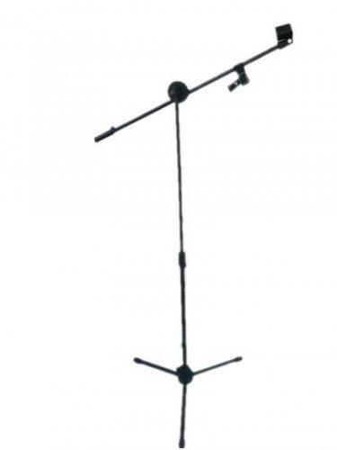 Professional Stage Studio Tripod Microphone Stand Adjustable Boom Black