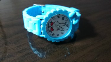 Kid Child Children boys Girls 3D Wrist Watch White Rabbit Cartoon Birthday Gift