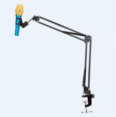 Portable Desk Microphone Mic Suspension Boom Scissor Arm Stand Holder For Studio