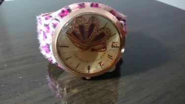 Bling Butterfly Wide Leather Strap Quartz Wrist Women Chic Fashion Watch Leopard