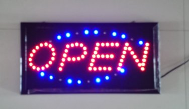 Neon Light LED Animated Open Sign Customers Attractive Sign Store Shop Sign