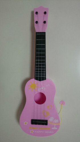 "Kid Chilren Music Instrument Mini Acoustic Guitar Toy 21"" ABS Plastic 4 Strings"
