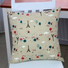 "Linen Decorative Throw Pillow case Cushion Cover 18"" x 18"" Chic Floral Designs"