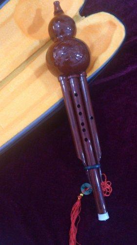 Chinese Traditional Gourd Flute Bottle Gourd Silk Hulusi Imitative Procelain
