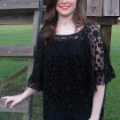 Polka Dot Lace Black Top XL