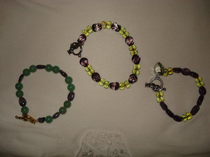 3 Green Bracelets