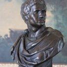 Roman Emperor Nero Claudius Bronze Sculpture Bust