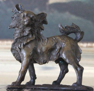 Chihuahua Bronze Sculpture