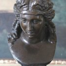 Roman Maiden Bust Bronze Sculpture